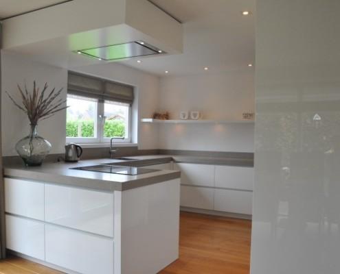 Keuken hoogglans wit verven