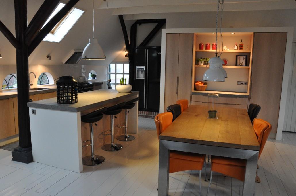 Keuken Design Emmeloord : Landelijke strakke keuken frederiksinterieurs